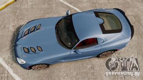 Dodge Viper SRT TA 2014 Rebuild для GTA 4 вид справа