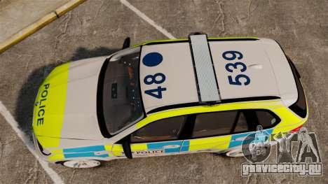 BMW X5 Police [ELS] для GTA 4 вид справа