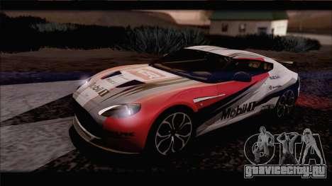 Aston Martin V12 Zagato 2012 [IVF] для GTA San Andreas вид изнутри