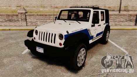Jeep Wrangler Rubicon Police 2013 [ELS] для GTA 4