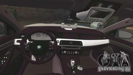 BMW M5 Marked Police [ELS] для GTA 4 вид сбоку