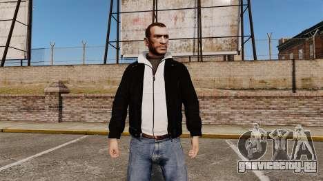 Чёрная кожаная куртка для GTA 4