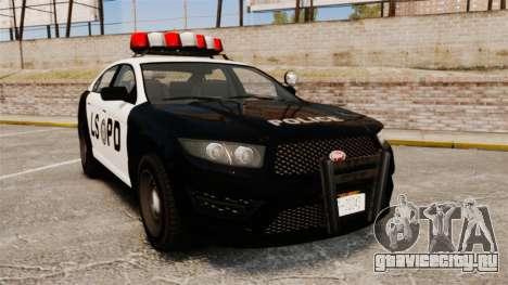 GTA V Vapid Police Interceptor LSPD для GTA 4