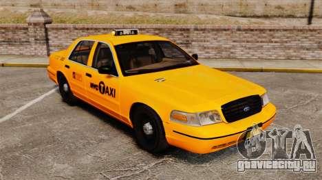 Ford Crown Victoria 1999 NYC Taxi для GTA 4 вид изнутри
