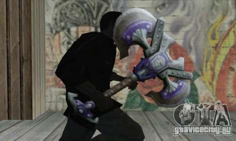 Топор из World of Warcraft для GTA San Andreas третий скриншот