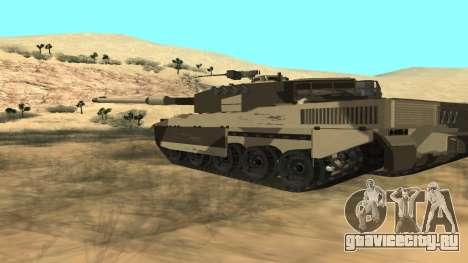 GTA V Rhino для GTA San Andreas вид сзади слева