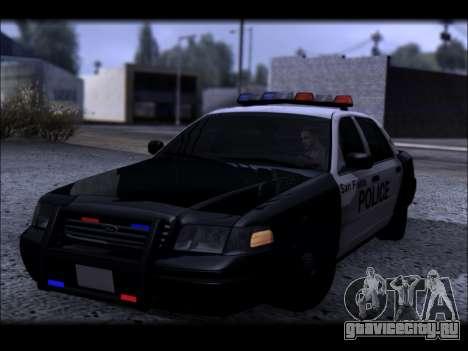 Ford Crown Victoria 2005 Police для GTA San Andreas вид сбоку