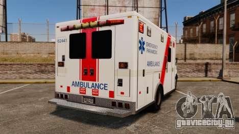 Brute B.C. Ambulance Service [ELS] для GTA 4 вид сзади слева