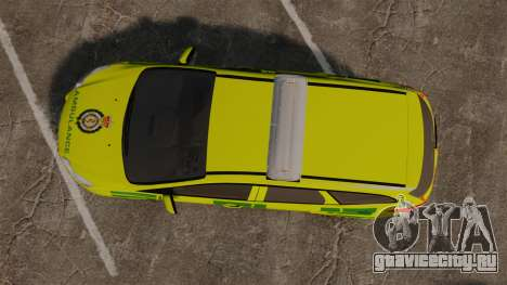 Ford Focus ST Estate 2012 [ELS] London Ambulance для GTA 4 вид справа
