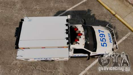 Ford F-550 2012 NYPD [ELS] для GTA 4 вид справа