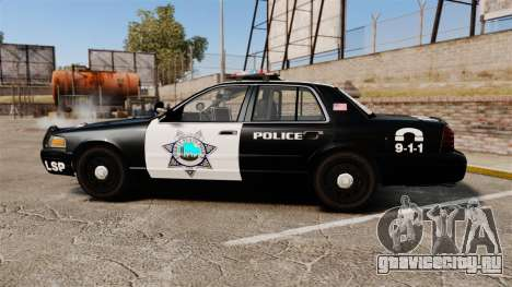 Ford Crown Victoria Liberty State Police для GTA 4 вид слева