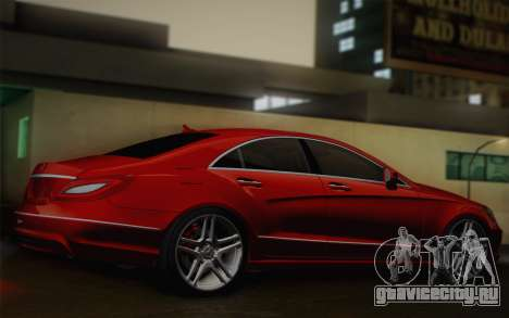 Mercedes-Benz CLS 63 AMG 2012 Fixed для GTA San Andreas вид сзади