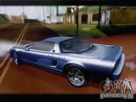 Acura NSX для GTA San Andreas вид изнутри