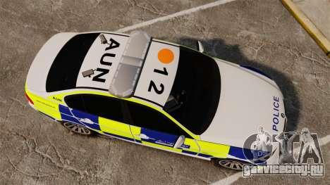 BMW 330i Metropolitan Police [ELS] для GTA 4 вид справа