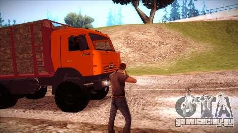 Камаз 54115 Лесовоз для GTA San Andreas вид сзади слева