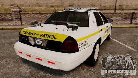Ford Crown Victoria 2011 LCSHP [ELS] для GTA 4 вид сзади слева