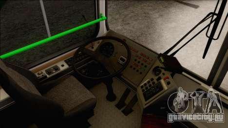 ЛиАЗ 5256.57 для GTA San Andreas вид изнутри