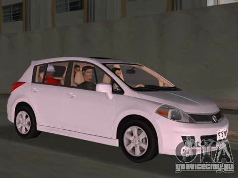 Nissan Tiida для GTA Vice City вид сверху