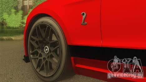 Ford Shelby GT500 2013 для GTA San Andreas вид справа