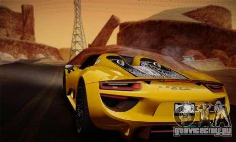 Porsche 918 Spyder 2014 для GTA San Andreas салон