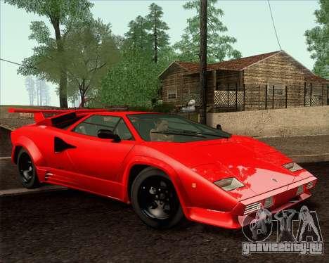Lamborghini Countach LP500 Quattrovalvole 1988 для GTA San Andreas вид изнутри