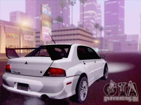 Mitsubishi Lancer Evo IX MR Edition для GTA San Andreas вид слева