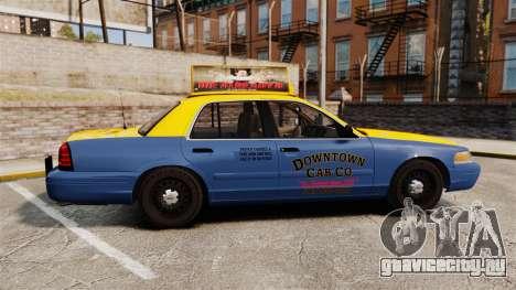 Ford Crown Victoria 1999 GTA V Taxi для GTA 4 вид слева