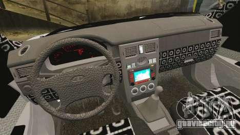 ВАЗ-2170 Лада Приора ДПС для GTA 4 вид изнутри
