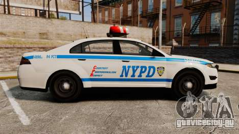 GTA V Police Vapid Interceptor NYPD для GTA 4 вид слева