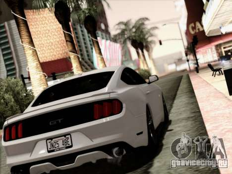 Ford Mustang GT 2015 v2 для GTA San Andreas вид слева