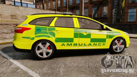 Ford Focus ST Estate 2012 [ELS] London Ambulance для GTA 4 вид слева