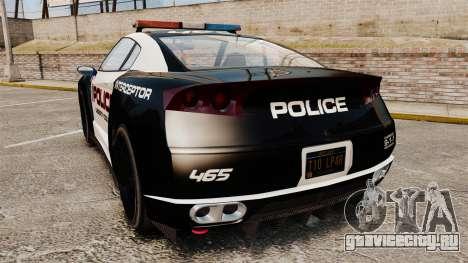 GTA V Police Elegy RH8 для GTA 4 вид сзади слева