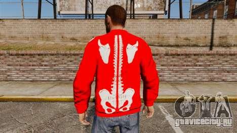 Красный свитер -Скелет- для GTA 4 второй скриншот