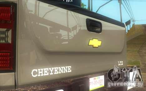 Chevrolet Cheyenne LT 2012 для GTA San Andreas вид сзади слева