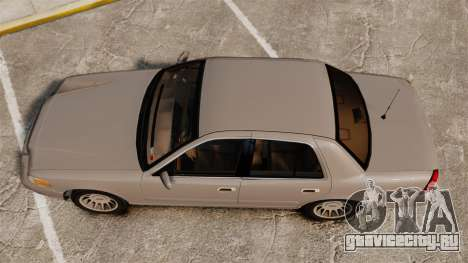 Ford Crown Victoria 1999 для GTA 4 вид справа