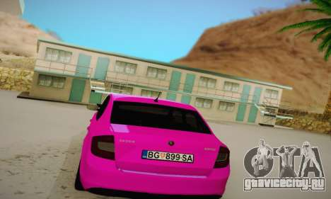 Skoda Rapid 2014 для GTA San Andreas вид справа
