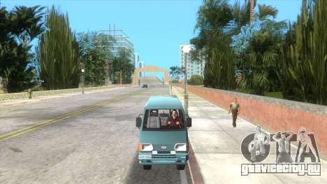 Kia Towner для GTA Vice City вид сзади слева