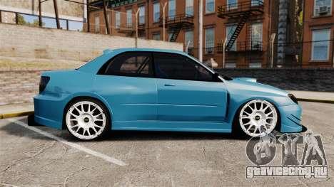 Subaru Impreza HD Arif Turkyilmaz для GTA 4 вид слева