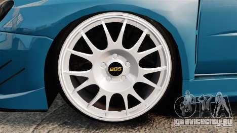 Subaru Impreza HD Arif Turkyilmaz для GTA 4 вид сзади