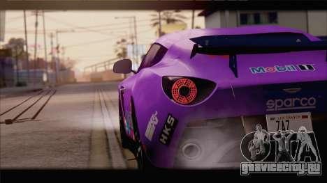 Aston Martin V12 Zagato 2012 [IVF] для GTA San Andreas двигатель
