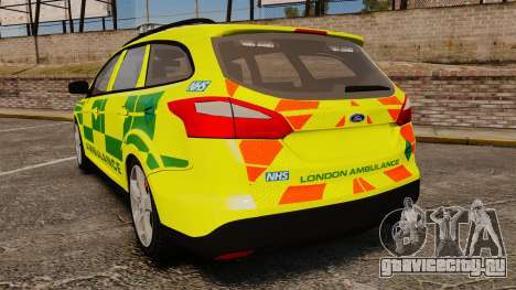 Ford Focus ST Estate 2012 [ELS] London Ambulance для GTA 4 вид сзади слева