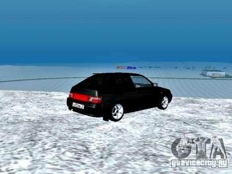 ВАЗ 2112 Купе Черныш для GTA San Andreas вид сзади слева
