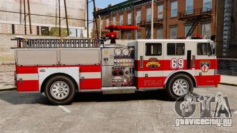Пожарная машина для GTA 4 вид слева