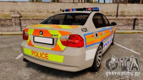 BMW 330 Metropolitan Police [ELS] для GTA 4 вид сзади слева