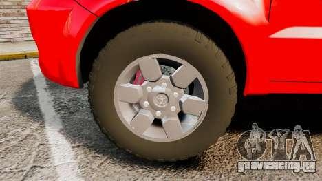 Toyota Hilux London Fire Brigade [ELS] для GTA 4 вид сзади