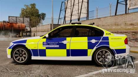 BMW 330i Metropolitan Police [ELS] для GTA 4 вид слева