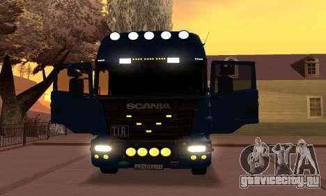 Scania Topline R730 V8 для GTA San Andreas вид сзади