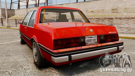Willard Coupe для GTA 4 вид сзади слева