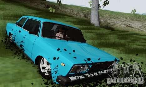 ВАЗ 2107 Купе для GTA San Andreas вид сзади