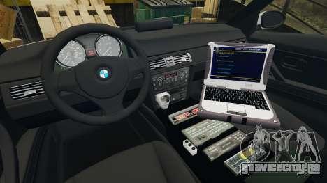 BMW 330 Metropolitan Police [ELS] для GTA 4 вид сзади